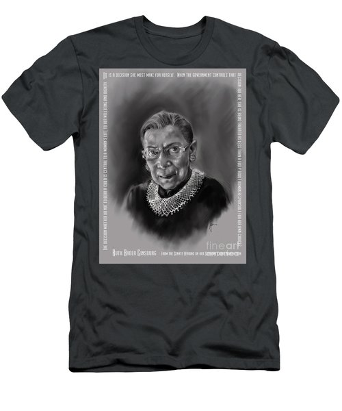 Portrait Of Ruth Bader Ginsburg Men's T-Shirt (Athletic Fit)