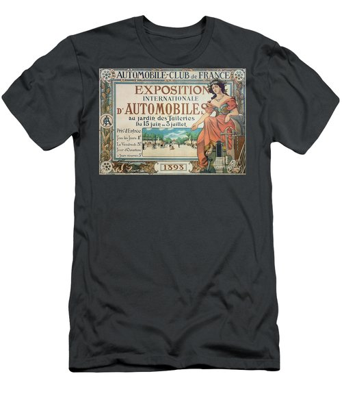 Poster Advertising The Exposition Internationale Automobiles At The Tuileries Gardens 1898 Men's T-Shirt (Athletic Fit)