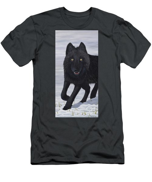 Men's T-Shirt (Athletic Fit) featuring the painting Predator by Tracey Goodwin