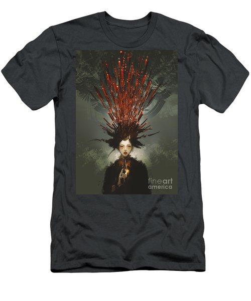 Prey With A Gun Men's T-Shirt (Athletic Fit)