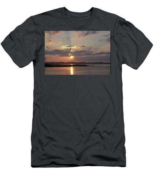 Men's T-Shirt (Athletic Fit) featuring the photograph Prime Hook Sunrise 1 by Buddy Scott
