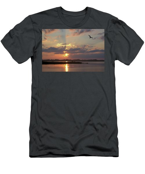 Men's T-Shirt (Athletic Fit) featuring the photograph Prime Hook Sunrise 2 by Buddy Scott
