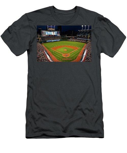 Progressive Field Night Game Men's T-Shirt (Athletic Fit)