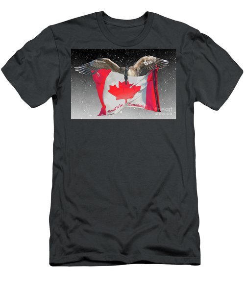 Proud To Be Canadian Men's T-Shirt (Athletic Fit)