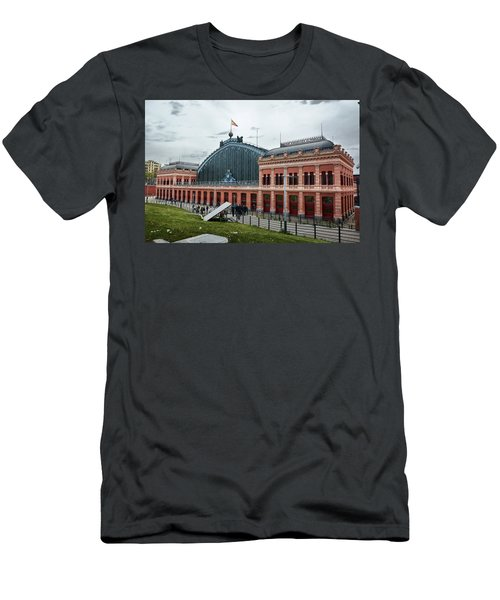Men's T-Shirt (Athletic Fit) featuring the photograph Puerta De Atocha Railway Station by Eduardo Jose Accorinti