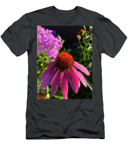 Men's T-Shirt (Athletic Fit) featuring the photograph Purple Coneflower by Lukas Miller