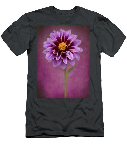 Men's T-Shirt (Athletic Fit) featuring the photograph Purple Dahlia by John Rodrigues
