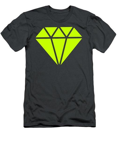 Purple Diamond Yellow Men's T-Shirt (Athletic Fit)