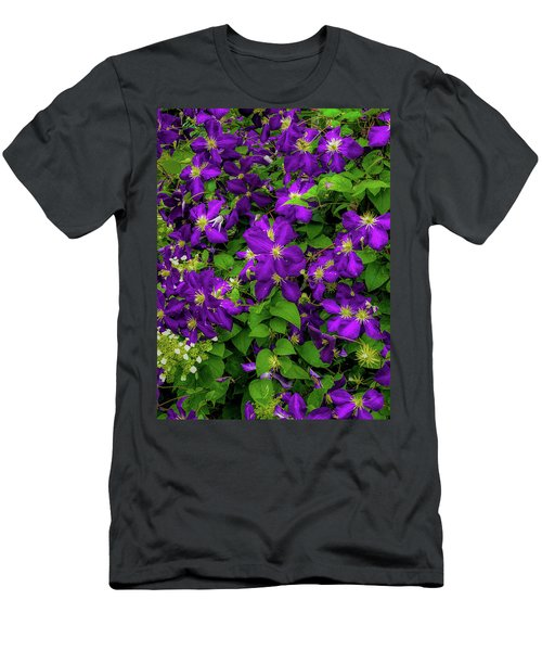 Men's T-Shirt (Athletic Fit) featuring the photograph Purple Flowers by Lora J Wilson