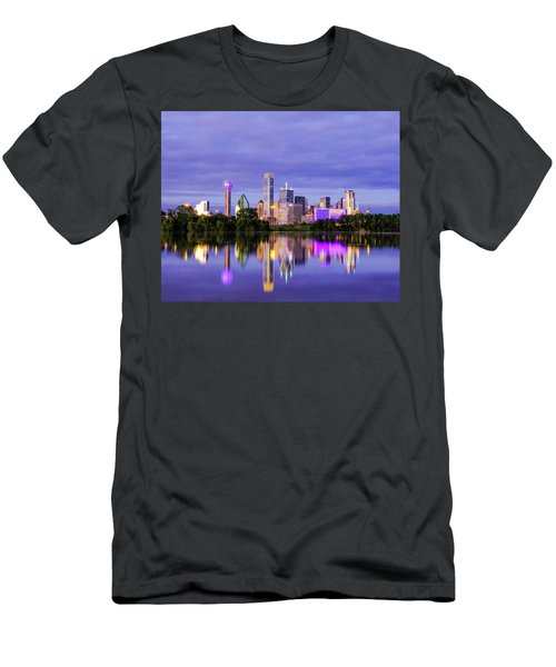 Purple Rain City Of Dallas Texas Men's T-Shirt (Athletic Fit)