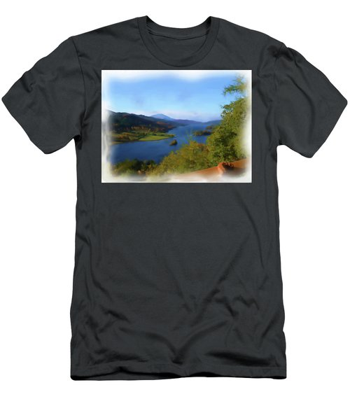 Queens View Painting Men's T-Shirt (Athletic Fit)