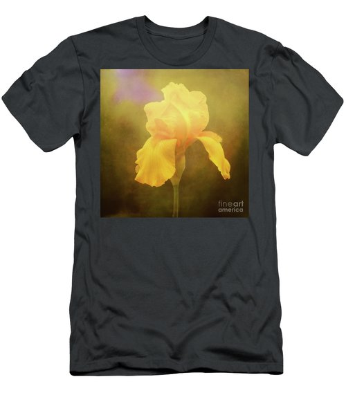 Radiant Yellow Iris With A Vintage Touch Men's T-Shirt (Athletic Fit)