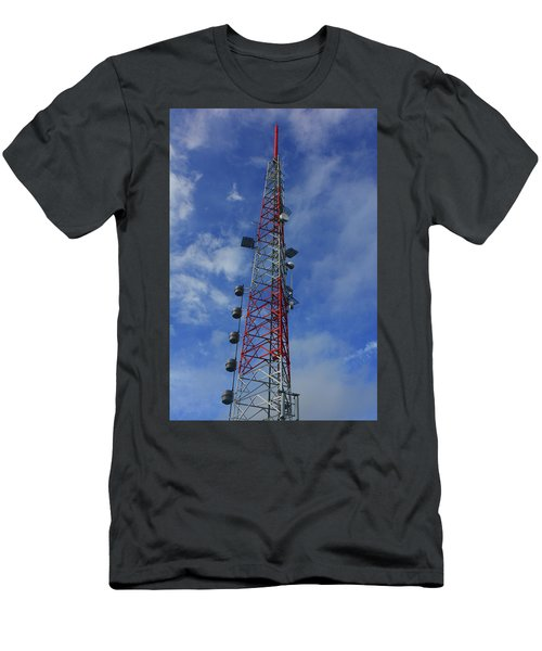 Men's T-Shirt (Athletic Fit) featuring the photograph Radio Tower On Mount Greylock by Raymond Salani III