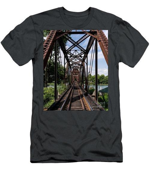 Railroad Bridge 6th Street Augusta Ga 1 Men's T-Shirt (Athletic Fit)