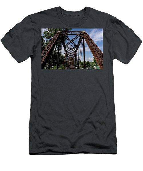 Railroad Bridge 6th Street Augusta Ga 2 Men's T-Shirt (Athletic Fit)