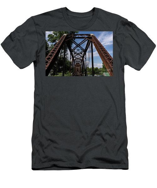 Railroad Bridge 6th Street Augusta Ga 2 Men's T-Shirt (Athletic Fit)