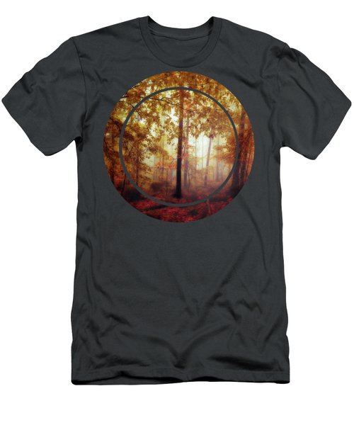 Rain Whispers - Misty Fall Forest Men's T-Shirt (Athletic Fit)