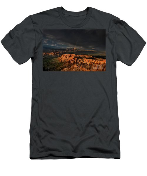 Rainbow And Thunderstorm Over The Paunsaugunt Plateau  Men's T-Shirt (Athletic Fit)