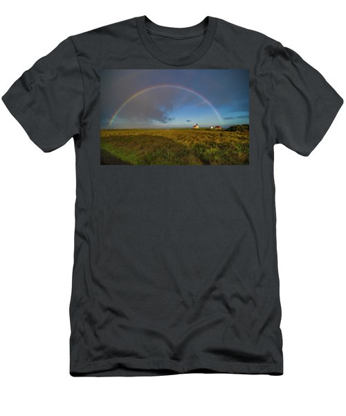 Rainbow At Point Cabrillo Men's T-Shirt (Athletic Fit)