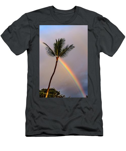 Rainbow Just Before Sunset Men's T-Shirt (Athletic Fit)