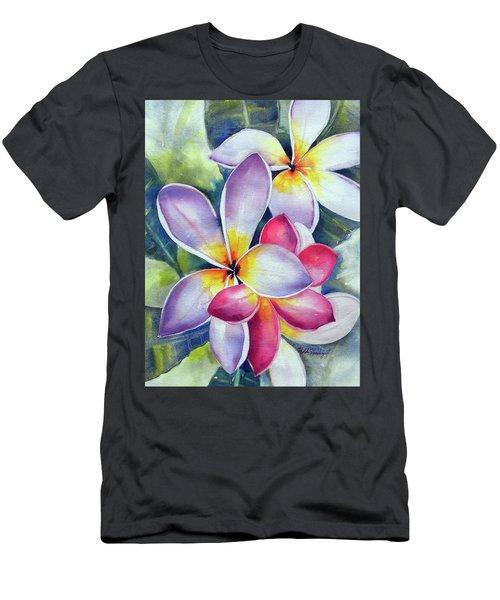 Rainbow Plumerias Men's T-Shirt (Athletic Fit)