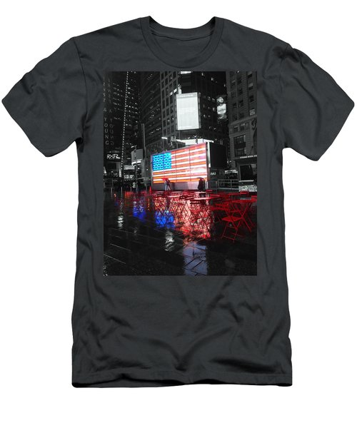Rainy Days In Time Square  Men's T-Shirt (Athletic Fit)