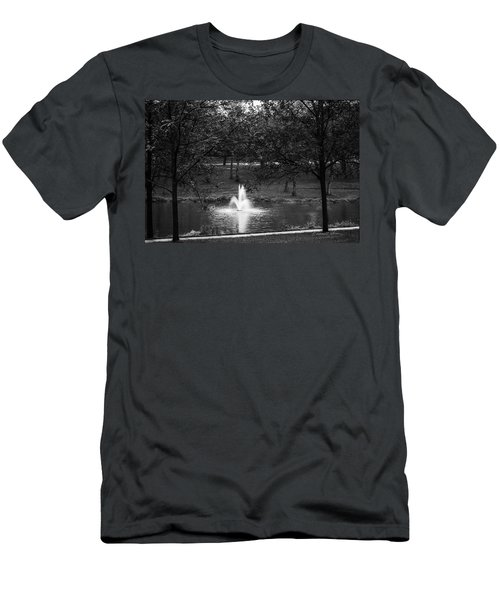 Men's T-Shirt (Athletic Fit) featuring the photograph Rainy Fall Monday by Edward Peterson