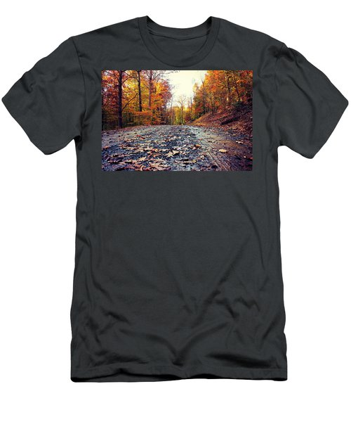 Rainy Fall Roads Men's T-Shirt (Athletic Fit)