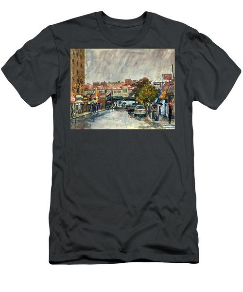 Rainy Morning 231st Street The Bronx Men's T-Shirt (Athletic Fit)