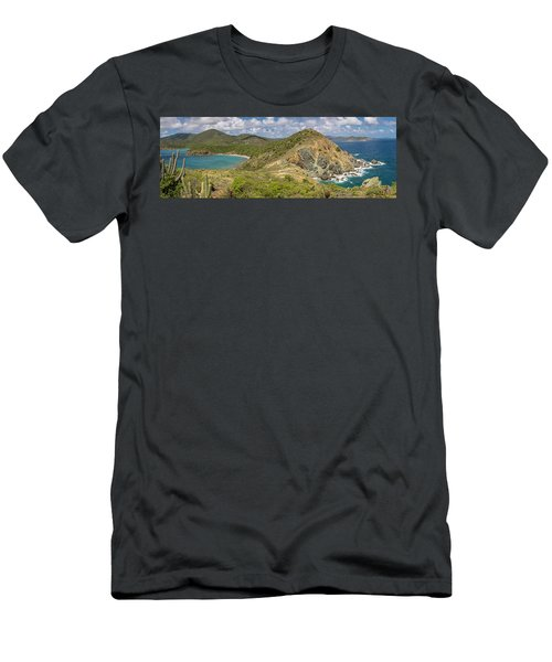 Men's T-Shirt (Athletic Fit) featuring the photograph Ram Head Panoramic by Adam Romanowicz