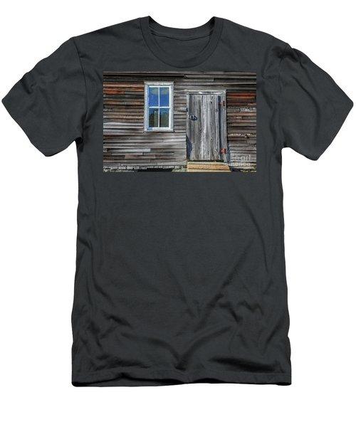 Rear Barn Door Men's T-Shirt (Athletic Fit)