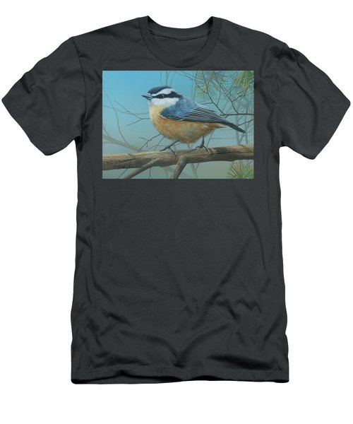 Red Brested Nuthatch Men's T-Shirt (Athletic Fit)