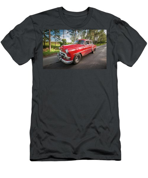 Red Classic Cuban Car Men's T-Shirt (Athletic Fit)