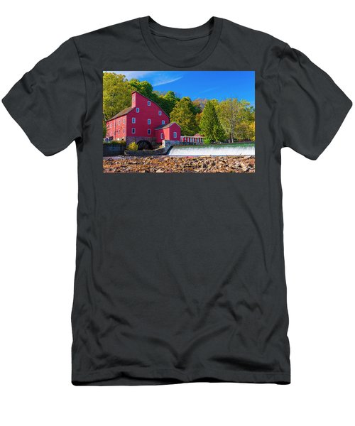 Men's T-Shirt (Athletic Fit) featuring the photograph Red Mill Photograph by Louis Dallara