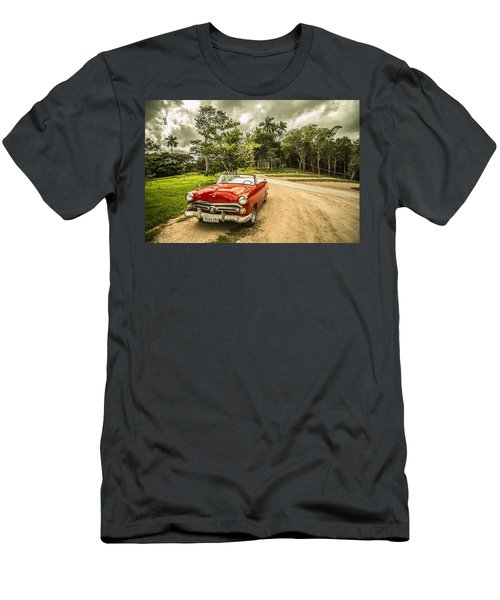Red Vintage Car Men's T-Shirt (Athletic Fit)