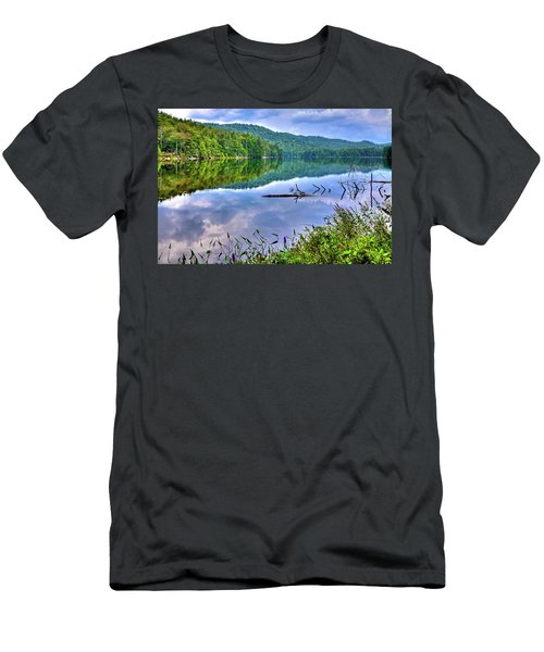 Men's T-Shirt (Athletic Fit) featuring the photograph Reflections On Sis Lake by David Patterson