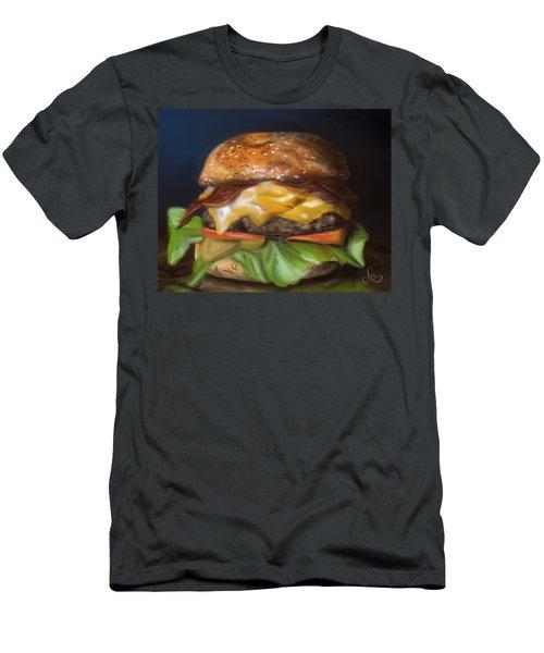 Men's T-Shirt (Athletic Fit) featuring the pastel Renaissance Burger  by Fe Jones