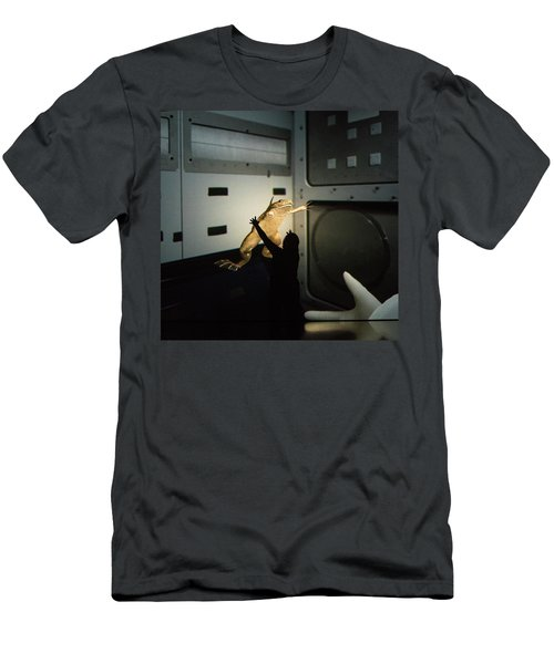 Men's T-Shirt (Athletic Fit) featuring the photograph Rescue Of The Space Frog by Alex Lapidus