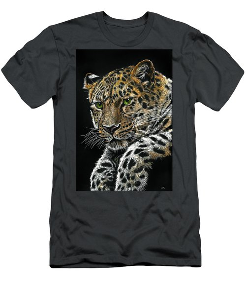 Resting Leopard Men's T-Shirt (Athletic Fit)