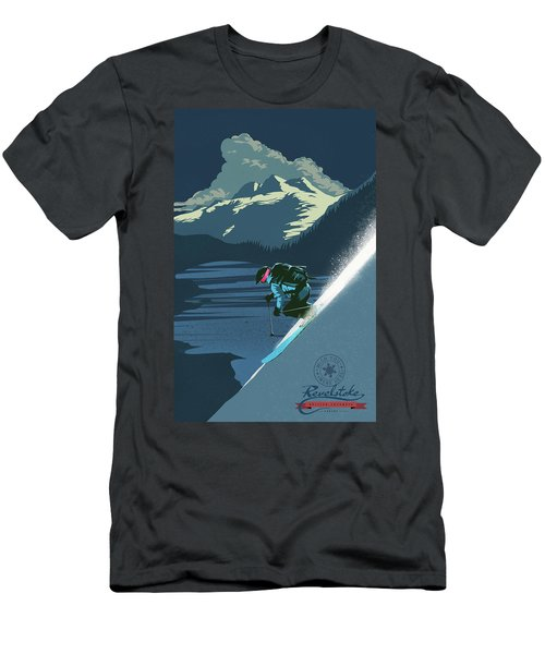 Retro Revelstoke Ski Poster Men's T-Shirt (Athletic Fit)