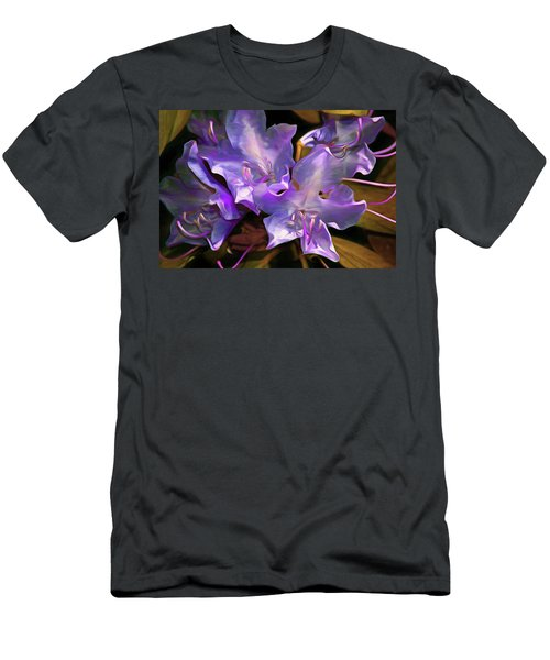 Men's T-Shirt (Athletic Fit) featuring the mixed media Rhododendron Glory 17 by Lynda Lehmann
