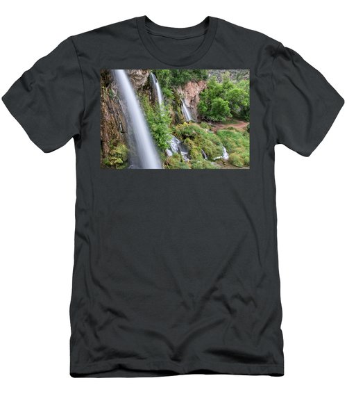 Men's T-Shirt (Athletic Fit) featuring the photograph Rifle Falls by Angela Moyer