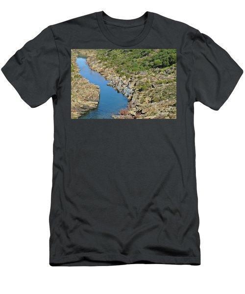 River On The Rocks. Color Version Men's T-Shirt (Athletic Fit)