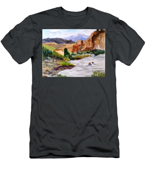 River Rafting In Montana Men's T-Shirt (Athletic Fit)