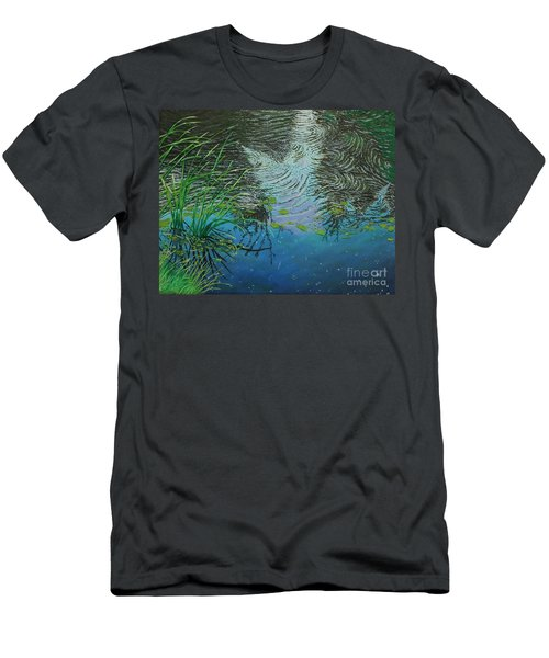 River ...ripples And Reeds Men's T-Shirt (Athletic Fit)