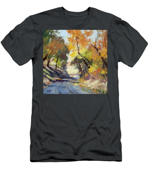 Men's T-Shirt (Athletic Fit) featuring the painting Roadside Attraction by Steve Henderson