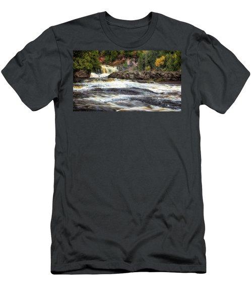 Roaring Gooseberry Falls Men's T-Shirt (Athletic Fit)