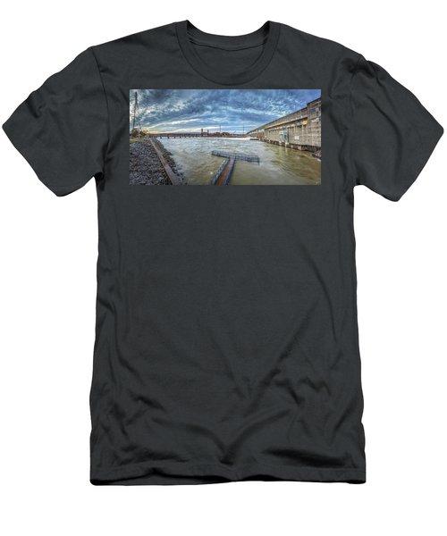Roaring River Below Chickamauga Dam Men's T-Shirt (Athletic Fit)