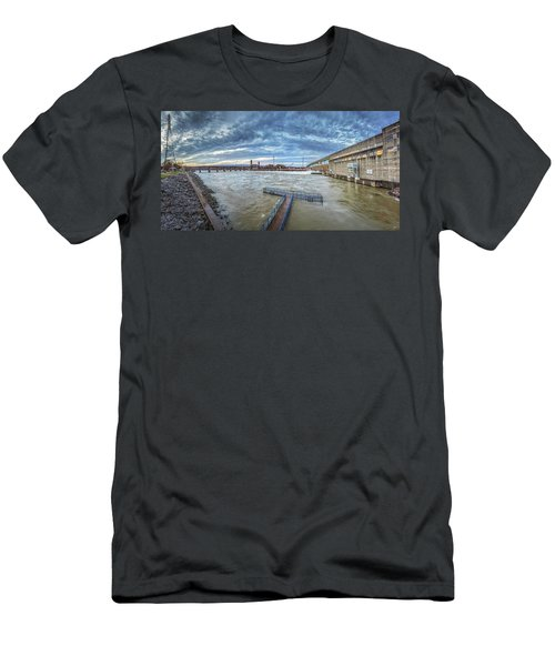 Roaring River Below Chickamauga Dam Men's T-Shirt (Athletic Fit)