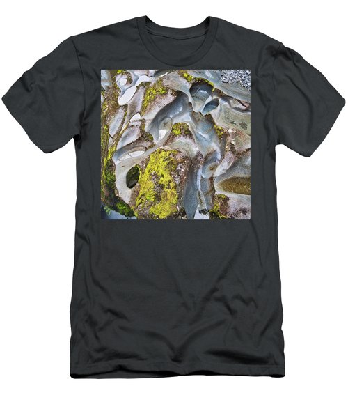 Men's T-Shirt (Athletic Fit) featuring the photograph Rock Grooves - The Chasm - New Zealand by Steven Ralser